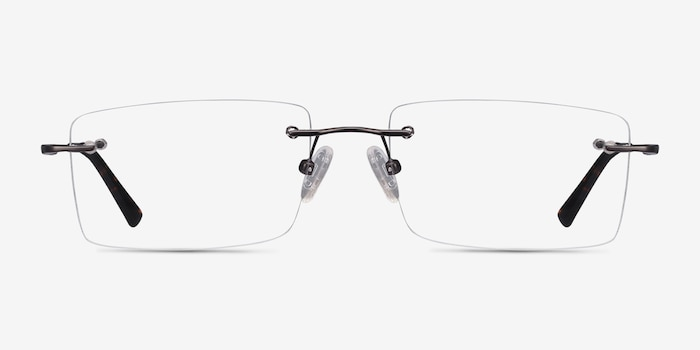 Evolve Gunmetal Metal Eyeglass Frames from EyeBuyDirect, Front View