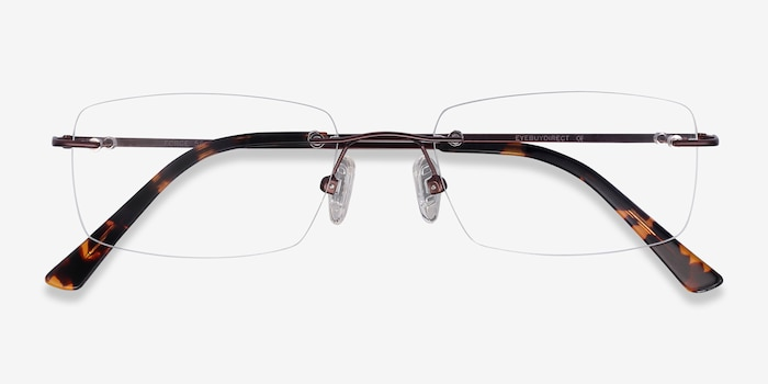Forge Coffee Metal Eyeglass Frames from EyeBuyDirect, Closed View