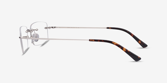 Forge Silver Metal Eyeglass Frames from EyeBuyDirect, Side View