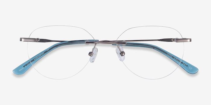 Feel Silver Metal Eyeglass Frames from EyeBuyDirect, Closed View