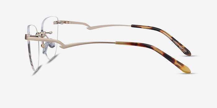 Harmony Matte Gold Metal Eyeglass Frames from EyeBuyDirect, Side View