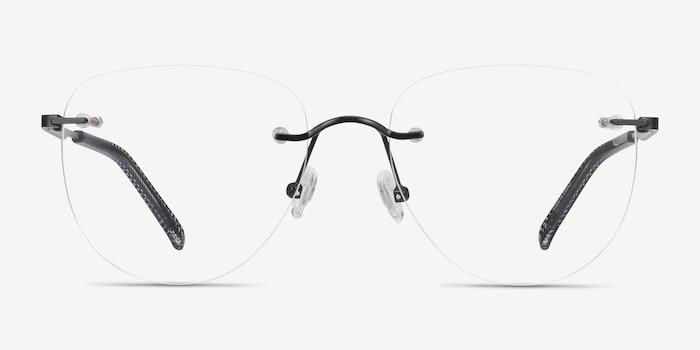 Ritzy Noir Métal Montures de Lunette de vue d'EyeBuyDirect, Vue de Face