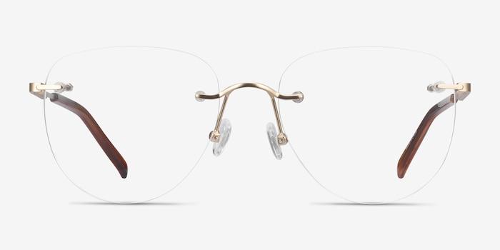 Ritzy Doré Métal Montures de Lunette de vue d'EyeBuyDirect, Vue de Face