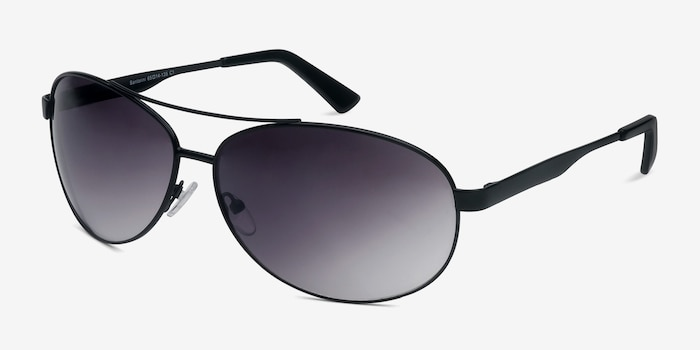 Santorini Black Metal Sunglass Frames from EyeBuyDirect, Angle View