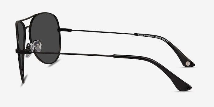Good Vibrations Black Metal Sunglass Frames from EyeBuyDirect, Side View