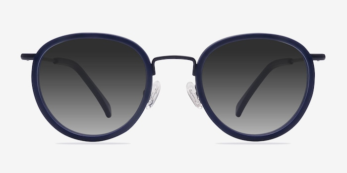 Siena Matte Navy Acetate Sunglass Frames from EyeBuyDirect, Front View