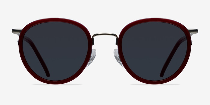 Siena Red Metal Sunglass Frames from EyeBuyDirect, Front View