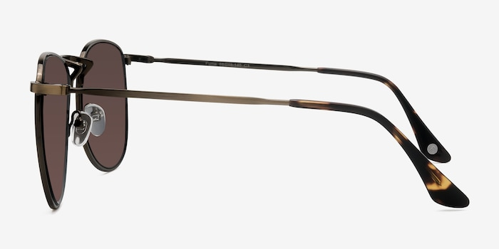 Fume Bronze Metal Sunglass Frames from EyeBuyDirect, Side View