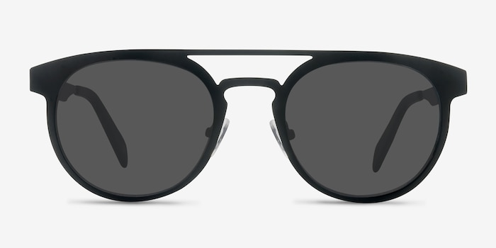 Playground Black Metal Sunglass Frames from EyeBuyDirect, Front View