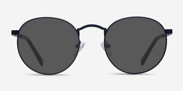 Rex  Navy  Metal Sunglass Frames from EyeBuyDirect, Front View