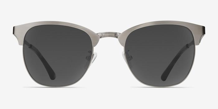 Veil Gunmetal Metal Sunglass Frames from EyeBuyDirect, Front View