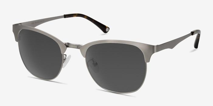 Veil Gunmetal Metal Sunglass Frames from EyeBuyDirect, Angle View