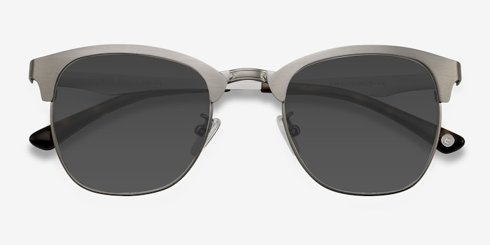 Veil Gunmetal Metal Sunglass Frames from EyeBuyDirect, Closed View