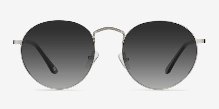 Disclosure Gray Metal Sunglass Frames from EyeBuyDirect, Front View