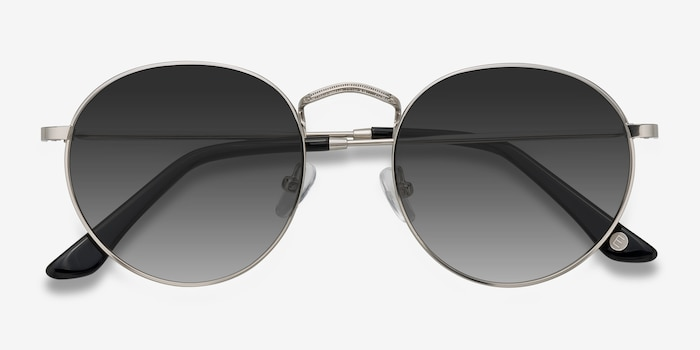 Disclosure Silver Metal Sunglass Frames from EyeBuyDirect, Closed View