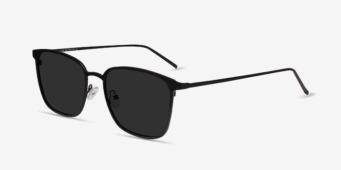 Jolt Black Metal Sunglass Frames from EyeBuyDirect, Angle View