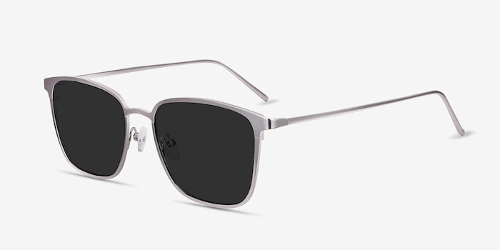 Jolt Gunmetal Metal Sunglass Frames from EyeBuyDirect, Angle View