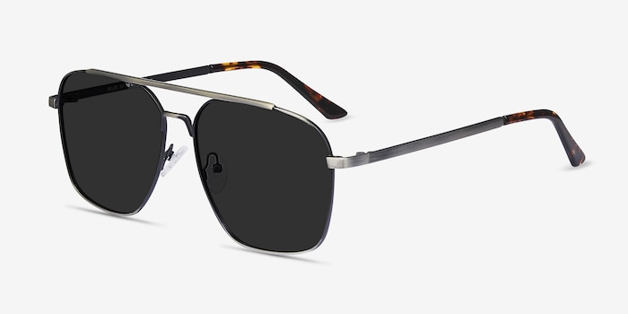 Route 66 Gunmetal Metal Sunglass Frames from EyeBuyDirect, Angle View