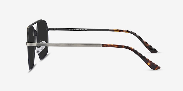 Route 66 Gunmetal Metal Sunglass Frames from EyeBuyDirect, Side View