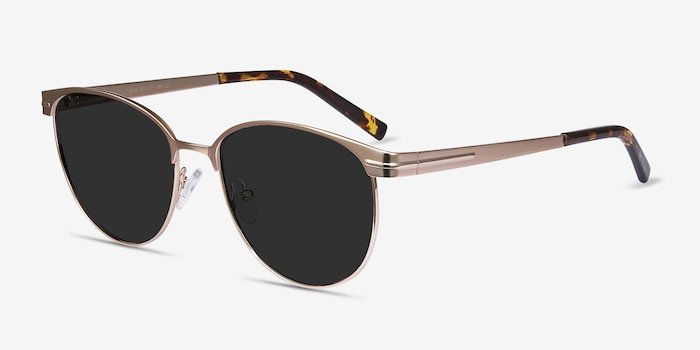 Maui Rose Gold Metal Sunglass Frames from EyeBuyDirect, Angle View