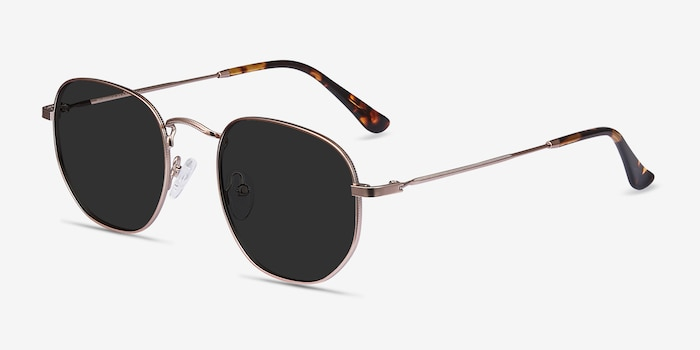 Boardwalk Rose Gold Metal Sunglass Frames from EyeBuyDirect, Angle View