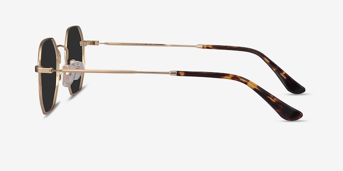 Sun Soar Golden Metal Sunglass Frames from EyeBuyDirect, Side View