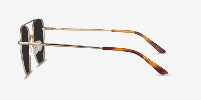 Impossible Golden Metal Sunglass Frames from EyeBuyDirect, Side View