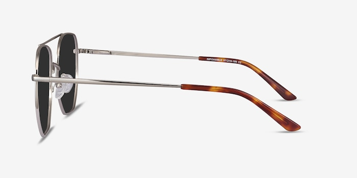 Impossible Silver Metal Sunglass Frames from EyeBuyDirect, Side View