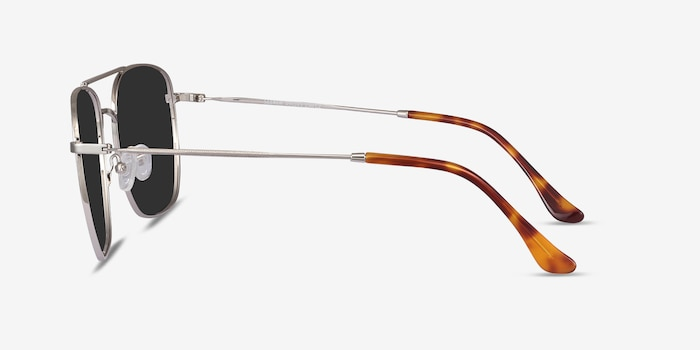 Seeker Silver Metal Sunglass Frames from EyeBuyDirect, Side View