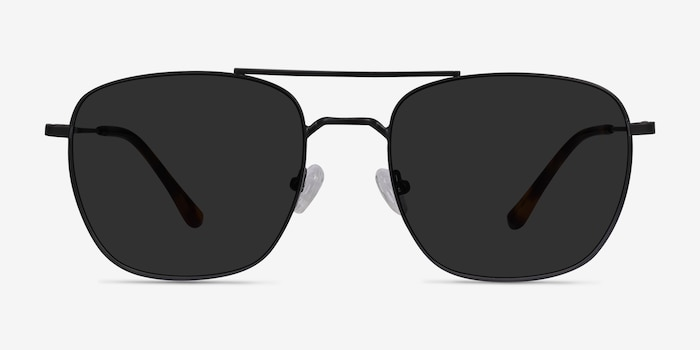 Seeker Black Metal Sunglass Frames from EyeBuyDirect, Front View