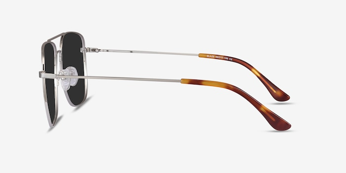 Blaze Silver Metal Sunglass Frames from EyeBuyDirect, Side View