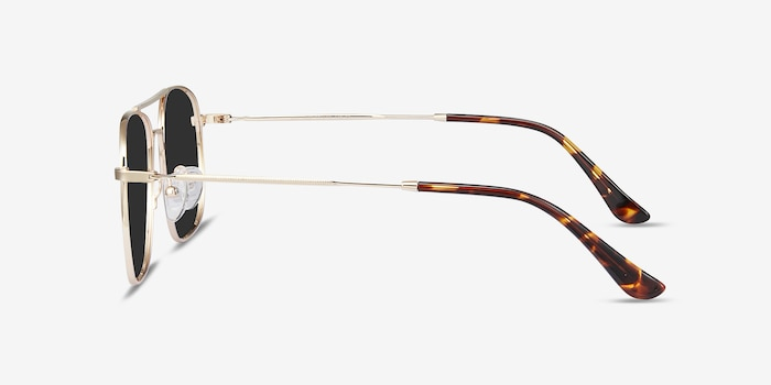 Sun Fame Golden Metal Sunglass Frames from EyeBuyDirect, Side View