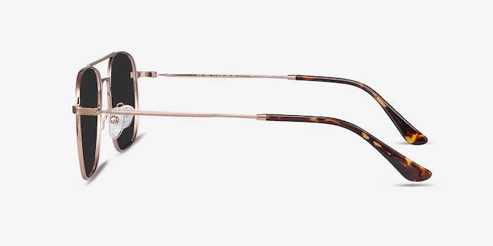 Sun Fame Rose Gold Metal Sunglass Frames from EyeBuyDirect, Side View
