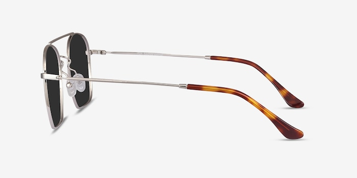 Itza Silver Metal Sunglass Frames from EyeBuyDirect, Side View