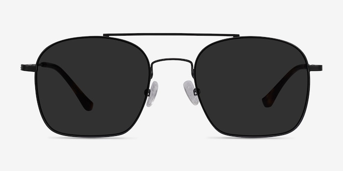 Itza Black Metal Sunglass Frames from EyeBuyDirect, Front View