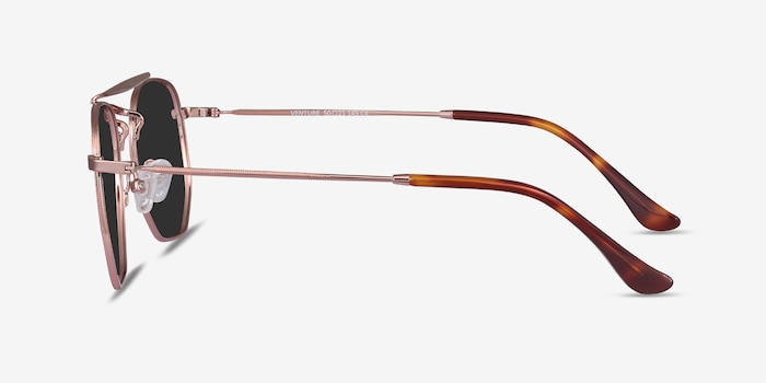 Venture Rose Gold Metal Sunglass Frames from EyeBuyDirect, Side View