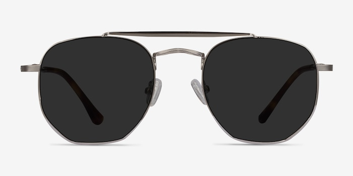 Venture Silver Metal Sunglass Frames from EyeBuyDirect, Front View