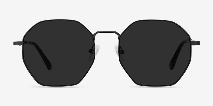 Sun Octave Black Metal Sunglass Frames from EyeBuyDirect, Front View