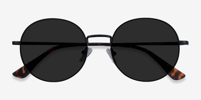 Solbada Black Metal Sunglass Frames from EyeBuyDirect, Closed View