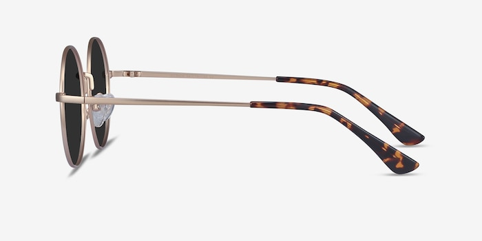 Solbada Gold Metal Sunglass Frames from EyeBuyDirect, Side View