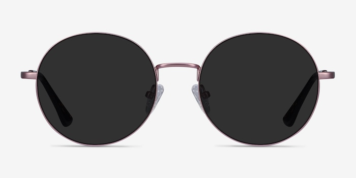 Solbada Pink Metal Sunglass Frames from EyeBuyDirect, Front View