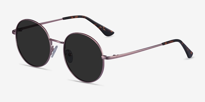 Solbada Pink Metal Sunglass Frames from EyeBuyDirect, Angle View