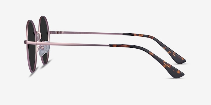 Solbada Pink Metal Sunglass Frames from EyeBuyDirect, Side View