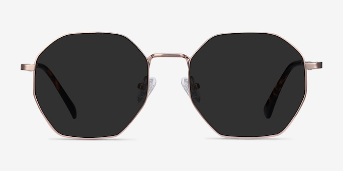 SUN OCTAVE Rose Gold Metal Sunglass Frames from EyeBuyDirect, Front View