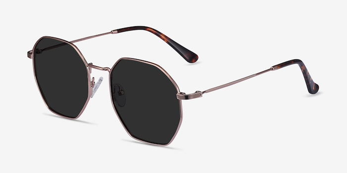 SUN OCTAVE Rose Gold Metal Sunglass Frames from EyeBuyDirect, Angle View