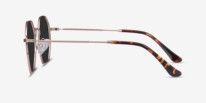 SUN OCTAVE Rose Gold Metal Sunglass Frames from EyeBuyDirect, Side View