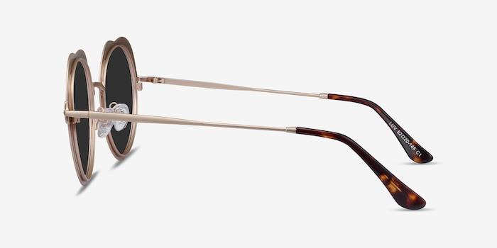 Luv Burgundy Metal Sunglass Frames from EyeBuyDirect, Side View