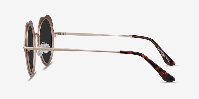 Luv Rose Gold Metal Sunglass Frames from EyeBuyDirect, Side View