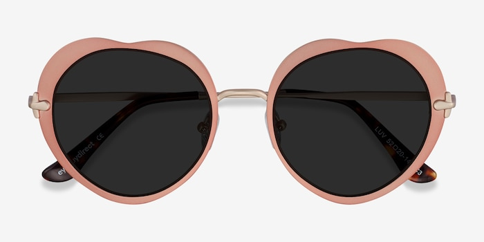 Luv Rose Gold Metal Sunglass Frames from EyeBuyDirect, Closed View