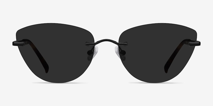 Linger Black Metal Sunglass Frames from EyeBuyDirect, Front View